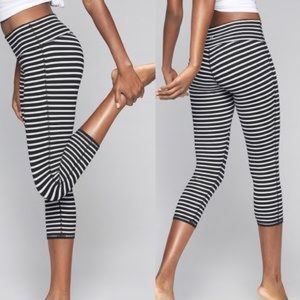 Athleta Stripes Chaturanga Capri Crop Leggings